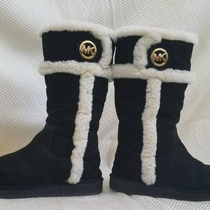 Michael Kors Sheep Fur Lined  Leather Suede Boots